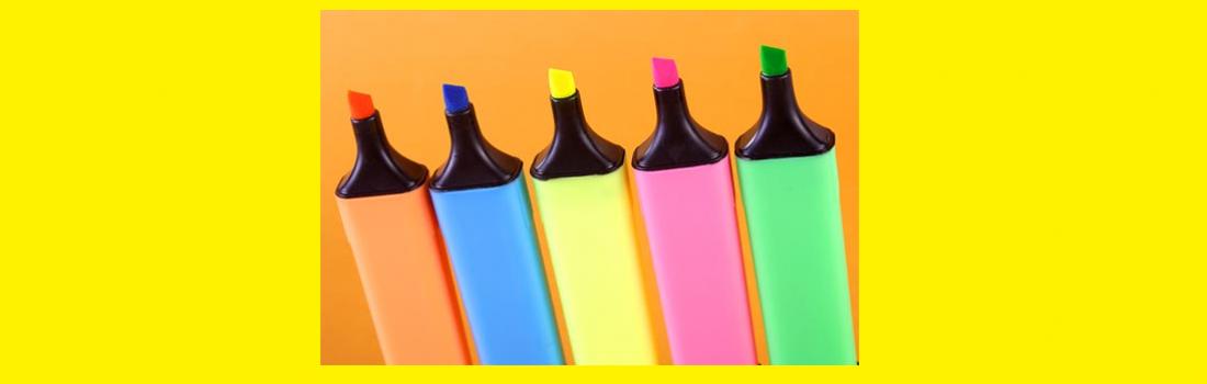 Providing written feedback through color-coding